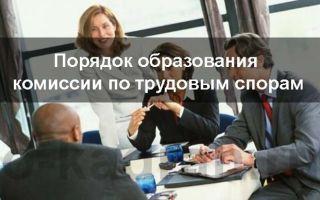 Комиссия по трудовым спорам: порядок образования и действия