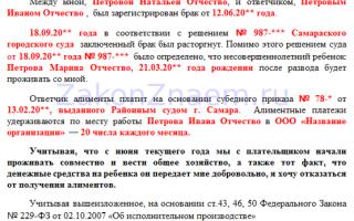 Судебный приказ о взыскании алиментов в 2021 году — образец, госпошлина, порядок выдачи содержание