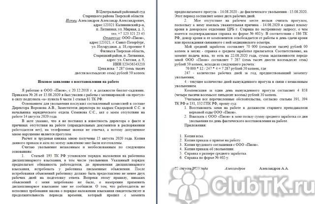 Заявление в суд на работодателя – иск на работодателя