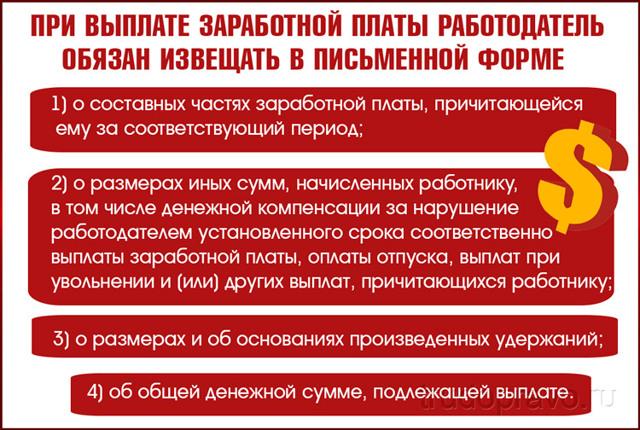 Статья 136 ТК РФ и комментарии к ней